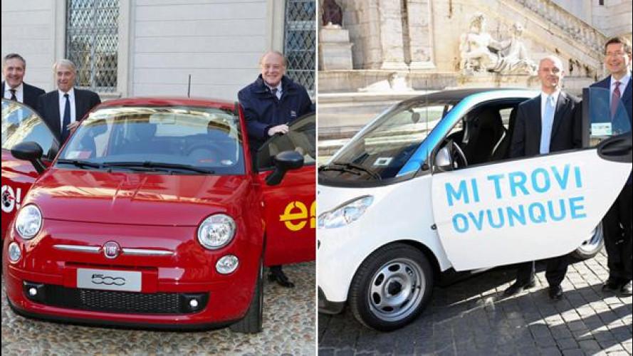Car sharing privato: Italia spaccata in due