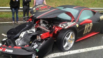 Ferrari 458 Italia crash during Gumball 3000 22.05.2013