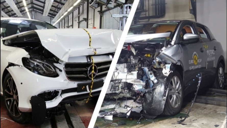 Euro NCAP: Mercedes Classe E e Peugeot 3008 a pieni voti