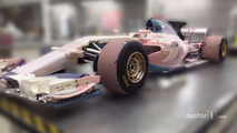 Manor wind tunnel model car