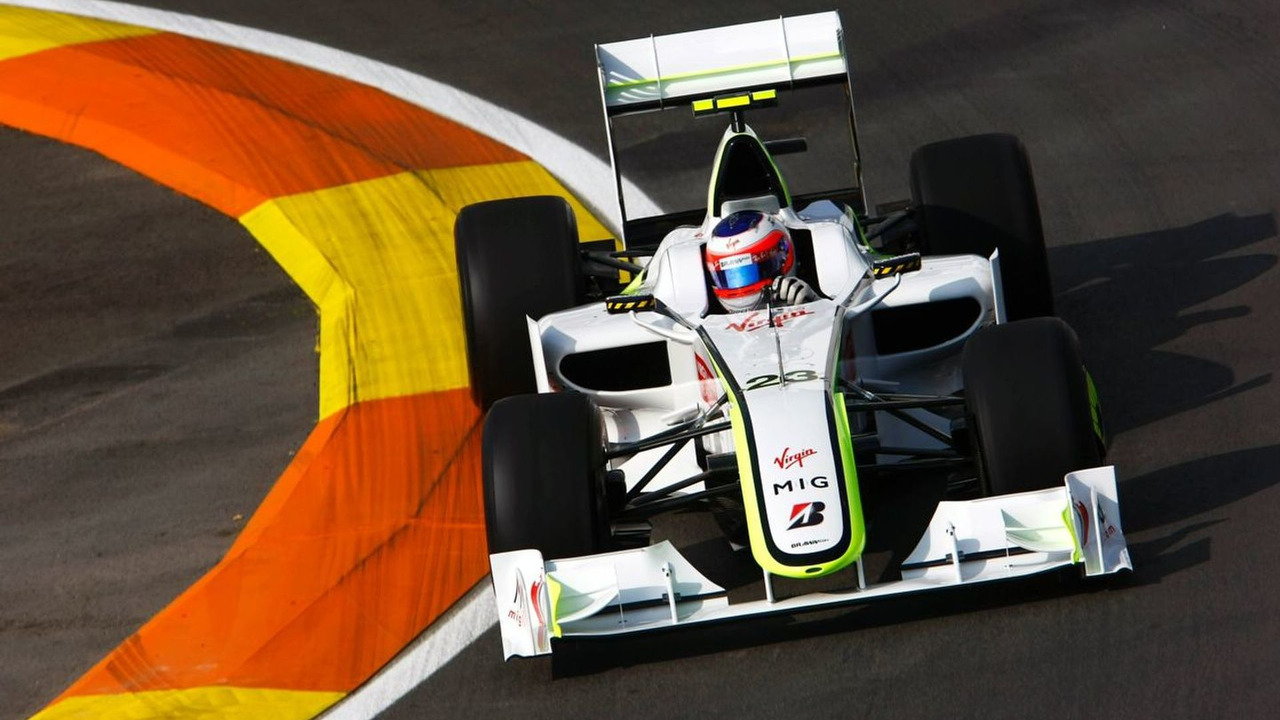 Rubens Barichello in action at at the Valencia Street Circuit