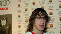 Carles Puyol during an interview