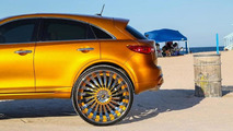 Gold-wrapped Infiniti FX gains massive 32-inch Forgiato wheels