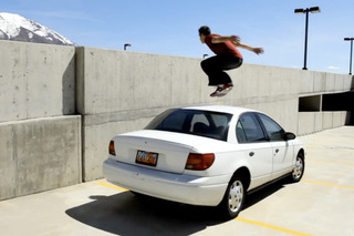 Car Parkour: Because Ledges Aren't Dangerous Enough [video]