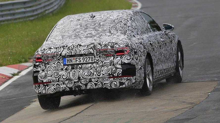 2018 Audi A8 Nürburgring casus fotoğrafları