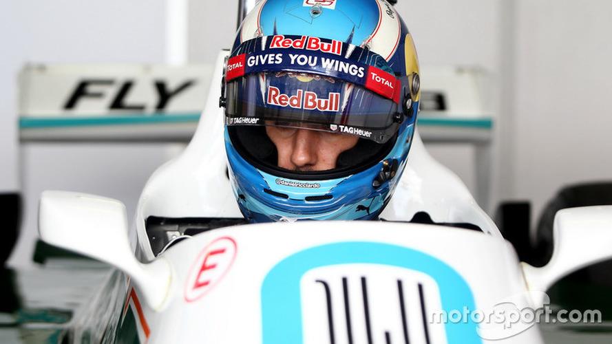 Ricciardo's smile returns after blast in title-winning Williams F1 car