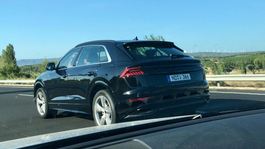 Audi Q8 2018: fotos espía de la trasera