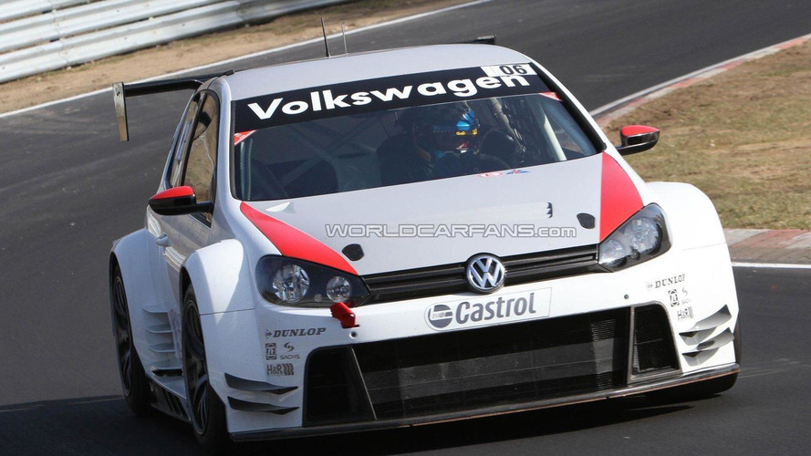 Volkswagen Golf24 testing on the Nürburgring