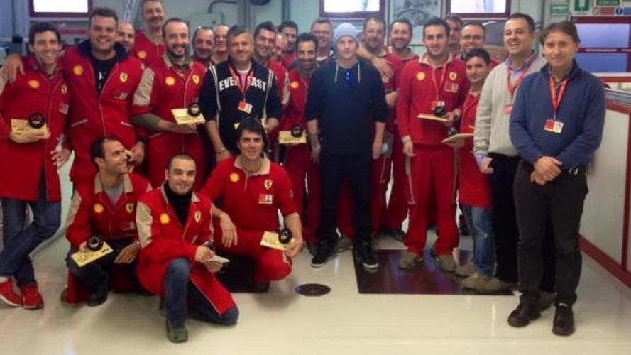 Raikkonen meets new engineer at Maranello