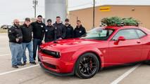 Hennessey Dodge Challenger Hauls Christmas Tree