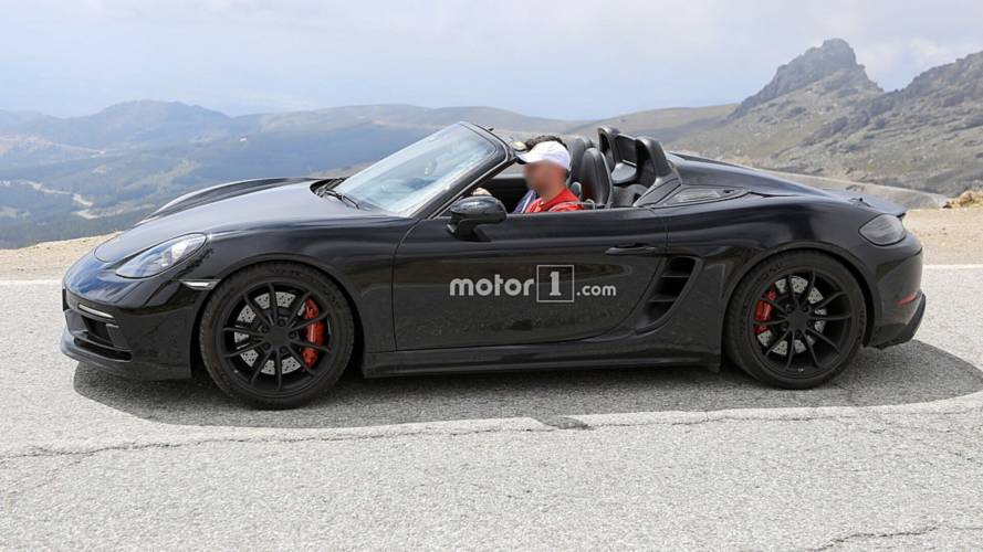 Porsche 718 Boxster Spyder Caught Cruising With The Top Down