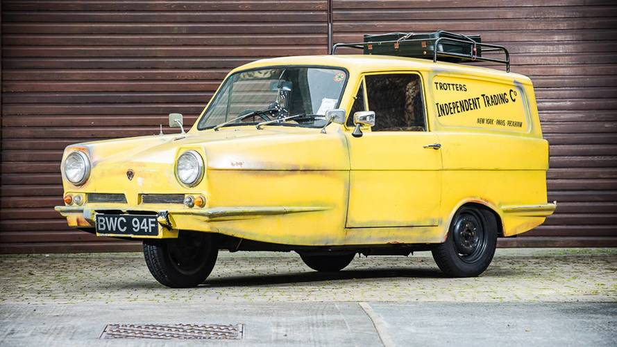 Del Boy's yellow Reliant van up for auction at Classic Motor Show