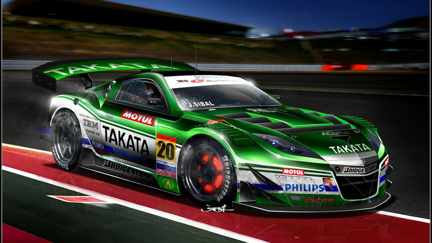 Rendered: 2010 Super GT NSX racecar