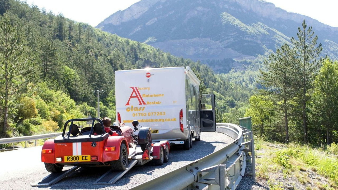 Caterham Roadsport 175 with motorhome rental