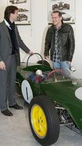 Jacques Villeneuve and Dany Bahar at Lotus 28.11.2009