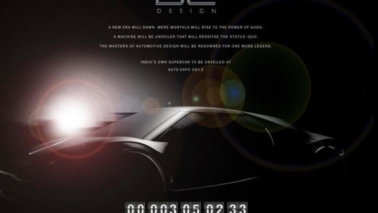 DC Design supercar concept teaser image - 02.1.2012