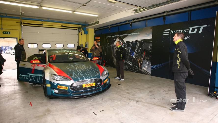Formula E driver gets first test of Electric GT Tesla