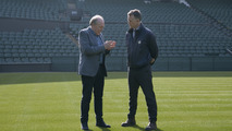 Neil Stubley, Wimbledon Head Groundsman with Ian Callum, Jaguar Director of Design