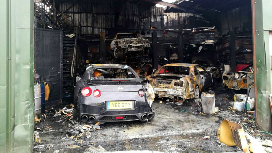 Nissan GT-R Specialty Shop, Including Customer Cars, Burns Down