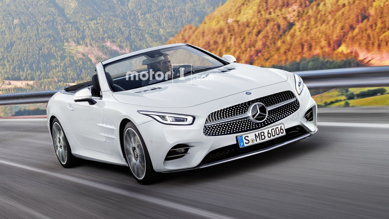 Mercedes SL 2019 render