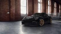 Porsche 911 GT3 RS con llantas doradas satinadas