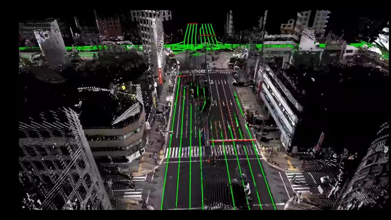 La città di Nagoya in 3D, Giappone