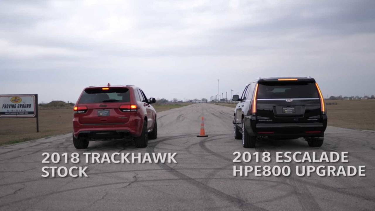 Hennessey Escalade Vs. Jeep Trackhawk