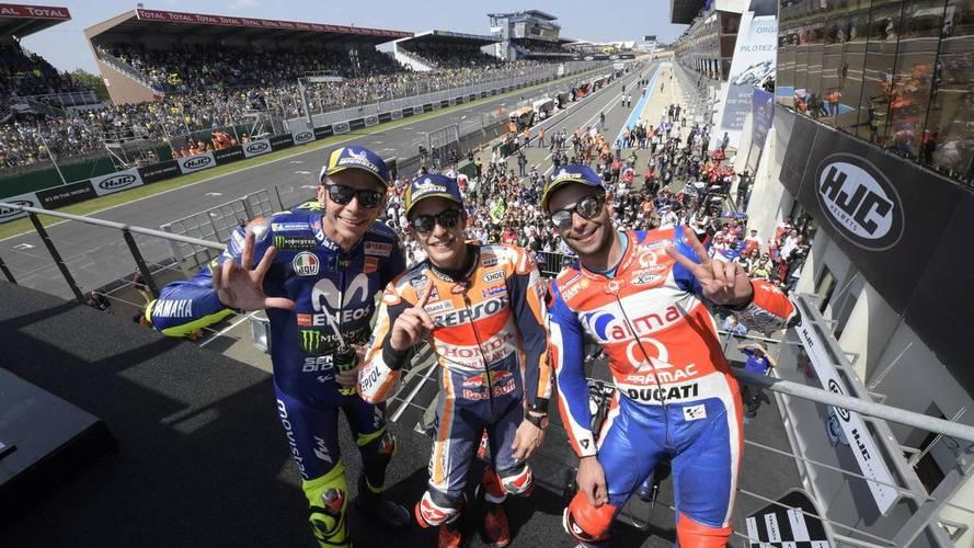 Márquez vence MotoGP en Le Mans y le pega un bocado al Mundial