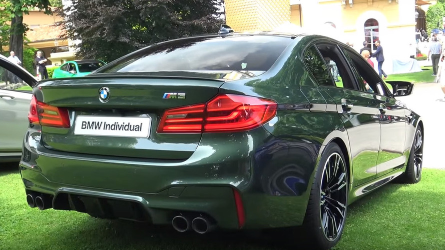 M5 Stands Under Super Sedans With Green Bmw Custom Paint Amazingreveal