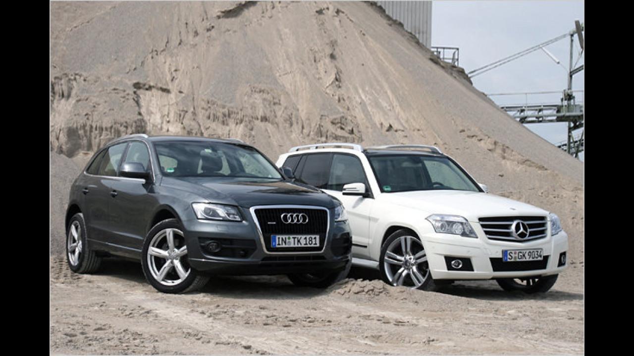 Edle Kompakt-SUVs im Vergleich: Audi Q5 gegen Mercedes GLK