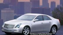 Cadillac CTS Spy Illustration