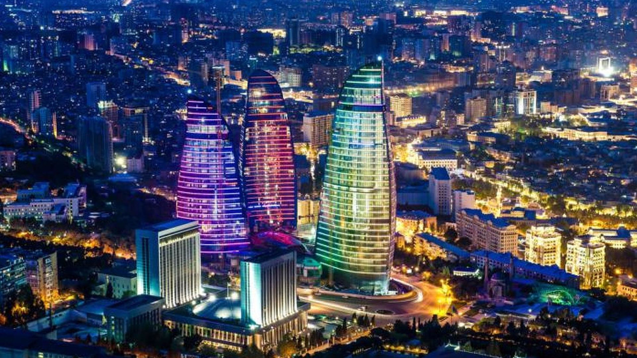 Azerbaijan Baku Flame Towers
