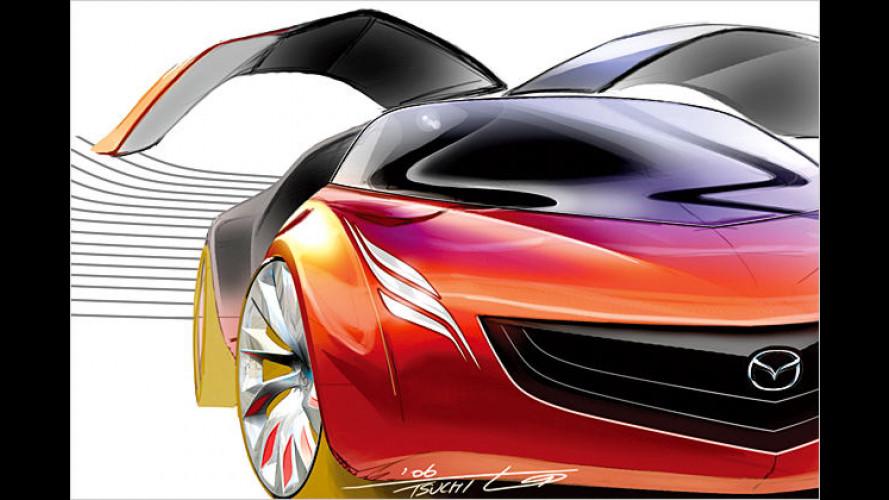 Mazda: Designstudie Ryuga und Hybridfahrzeug Tribute HEV