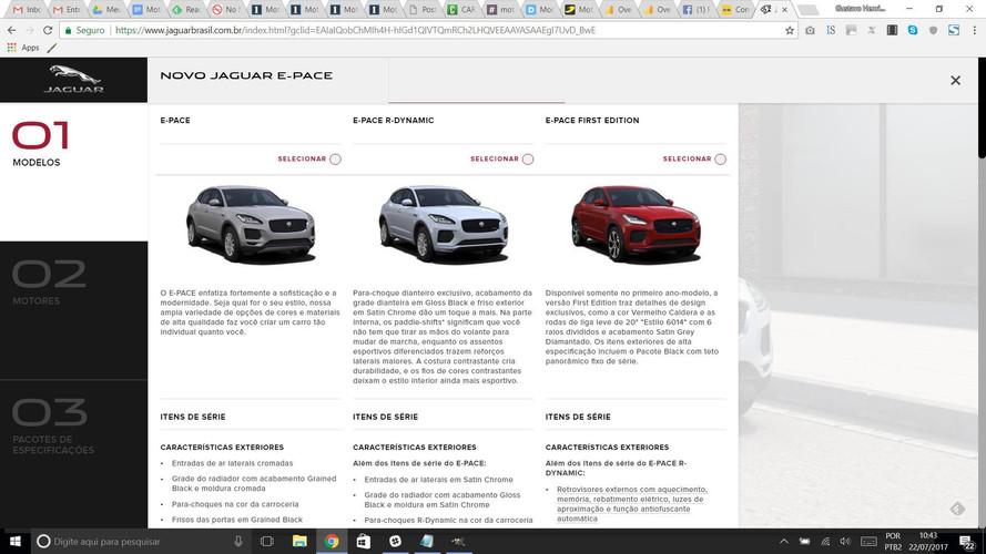 Jaguar E-Pace já tem site no Brasil