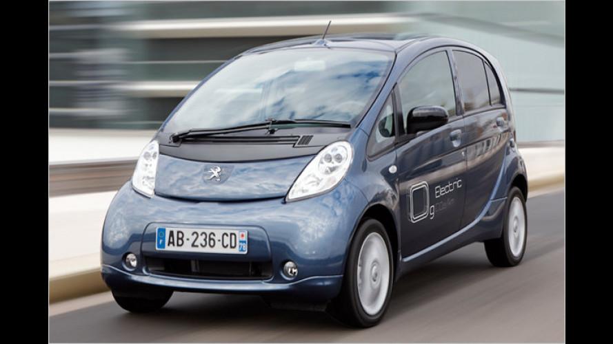 Peugeot iOn: Elektroauto für etwa 500 Euro pro Monat