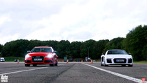 Audi RS6 drag races R8