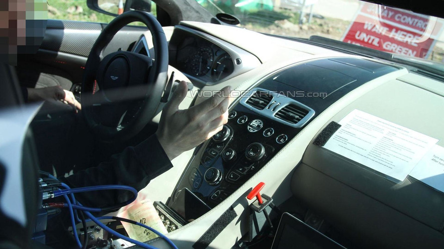 Aston Martin DB11 interior spied, confirms turbocharged engine