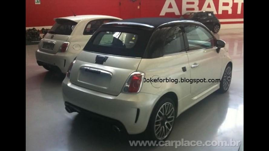 Fiat 500 Abarth Cabrio (conversível) é flagrado com disfarces