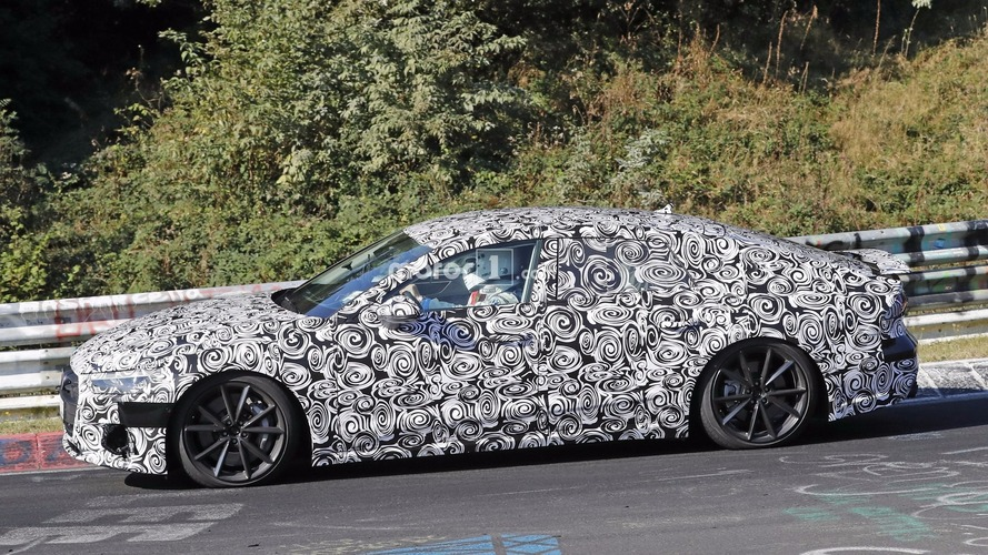 2019 Audi S7 Sportback rides very low during Nurburgring test