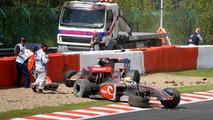 Lewis Hamilton (GBR), Jaime Alguersuari (ESP) crash on the first lap, Belgian Grand Prix, Francorchamps, Belgium 30.08.2009
