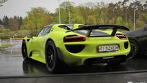 Lime Green Porsche 918 Spyder Weissach