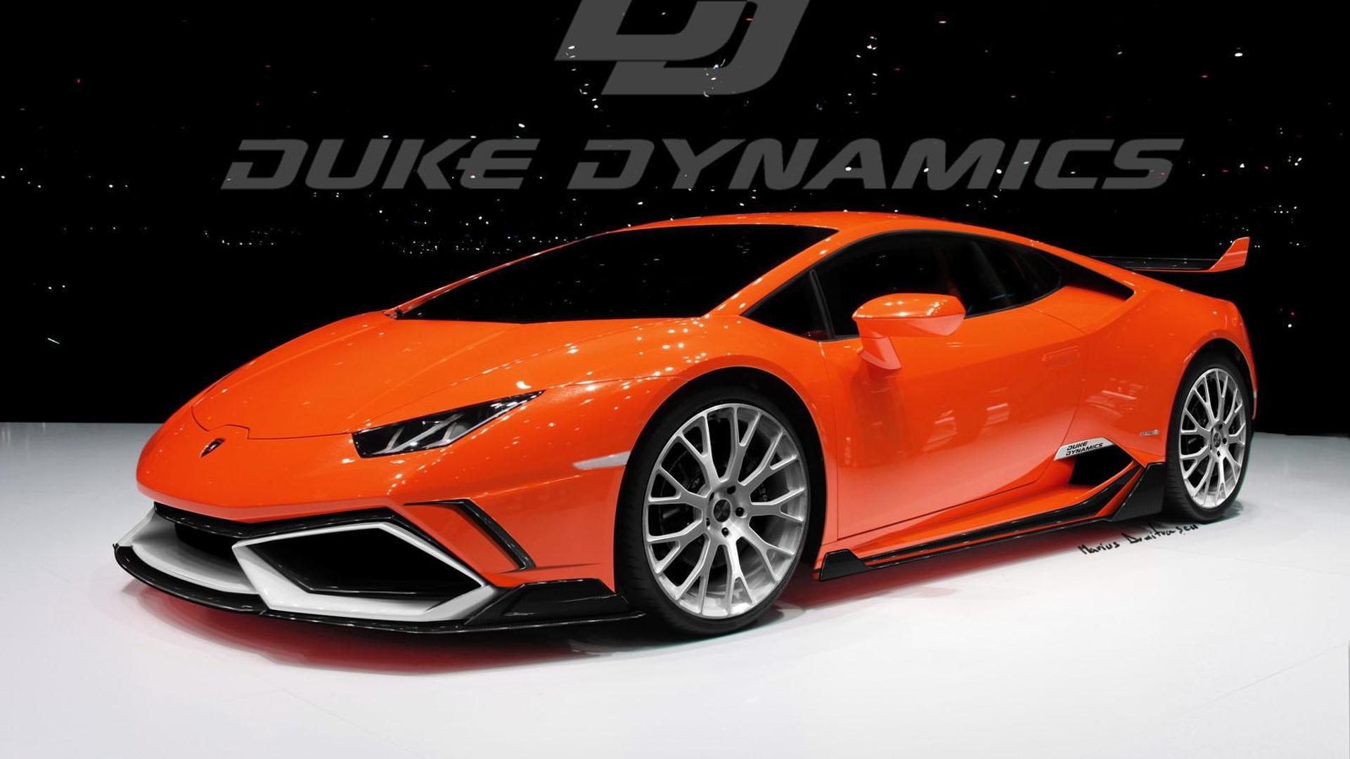 Красный Lamborghini Huracan от Duke Dynamics