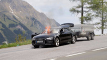 2019 Audi A7 Test Car Fire