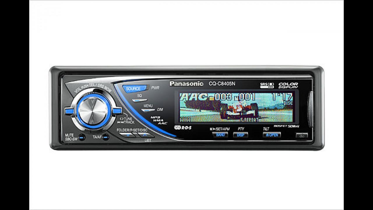 Panasonic CQ-C8405N: CD-Radio mit Farbdisplay