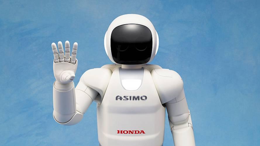 Honda's humanoid ASIMO robot waves goodbye