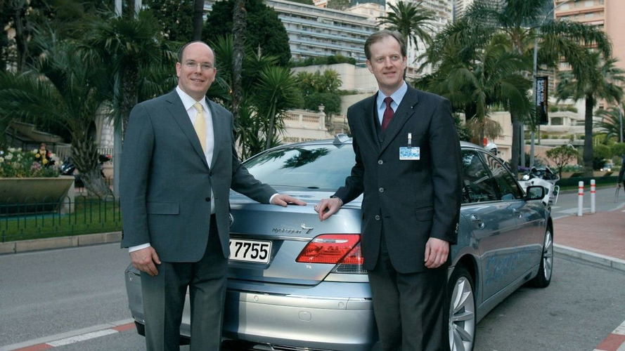 Prince Albert II of Monaco Receives Keys to BMW Hydrogen 7