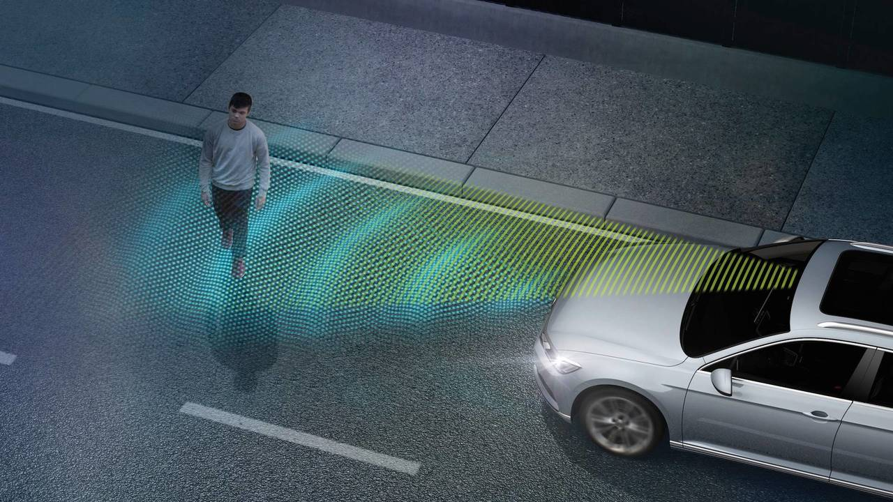 Automatic emergency braking system and pedestrian detection