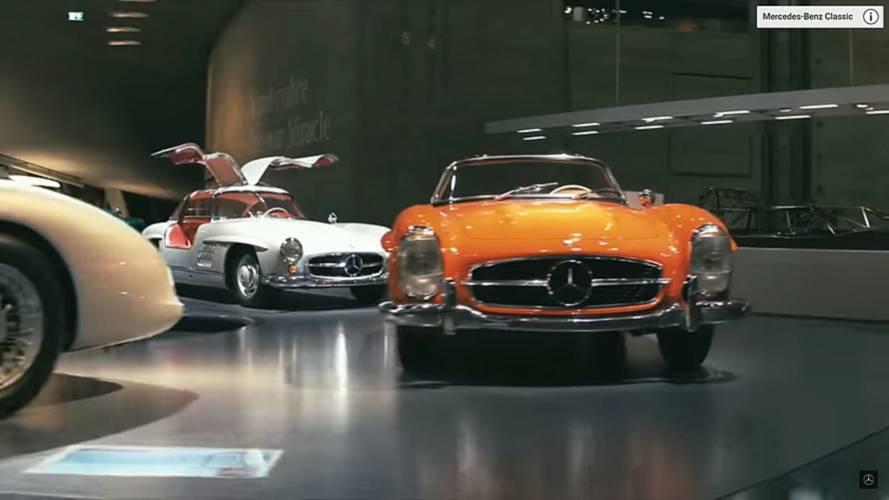 Mercedes müzesi, otomobil tutkunlarına görsel şölen yaşatıyor
