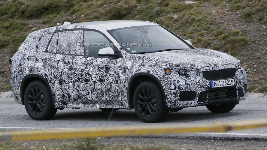 2015 BMW X1 spied wearing swirly camouflage