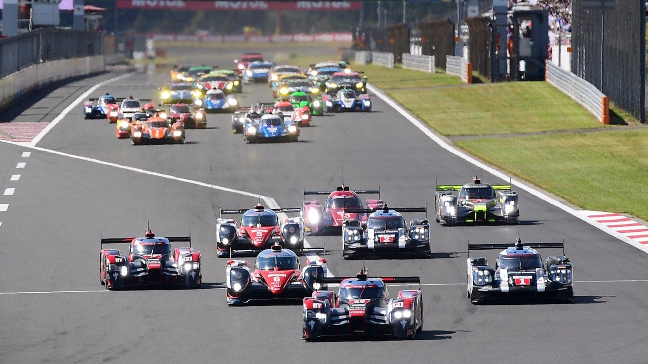 Départ : #8 Audi Sport Team Joest Audi R18 e-tron quattro: Lucas di Grassi, Loic Duval, Oliver Jarvis en tête